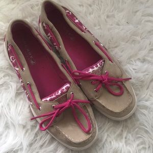 Sperry Top-sider Pink Leopard Print